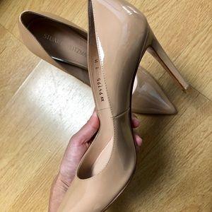 Stuart Weitzman Shoes - Stuart Weitzman Nude Patent Heels